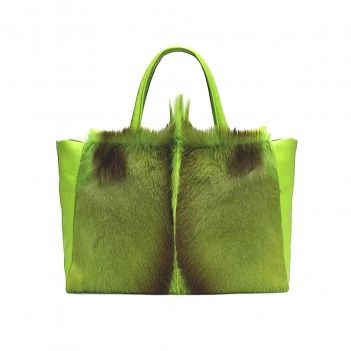 GREEN ANTELOPE TOTE BAG