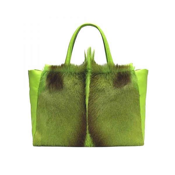 GREEN ANTELOPE TOTE BAG