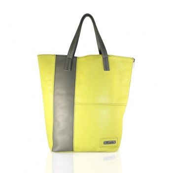 TWO TONE DELUXE SHOPPER TOTE