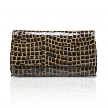 EMBOSSED OMBRE CLUTCH