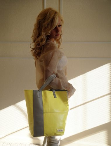 CITRUS SUMMER DELUXE SHOPPER TOTE