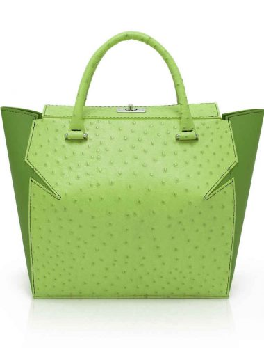 GREEN LEATHER MARQUIS TOTE
