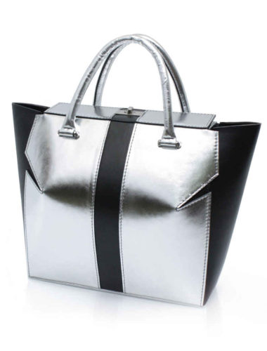 SILVER MARQUIS TOTE