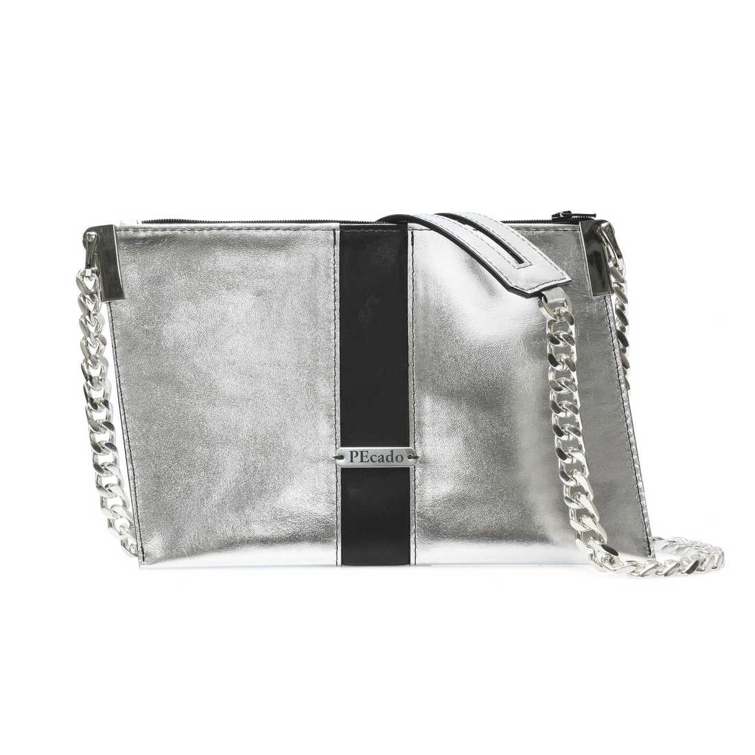 Emerald Cross Body Silver Metallic