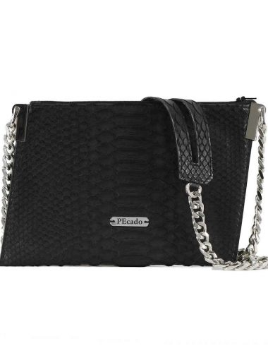 BLACK PYTHON EMERALD CROSSBODY