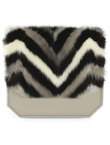 HERRINGBONE MINK RADIANT CLUTCH BAG
