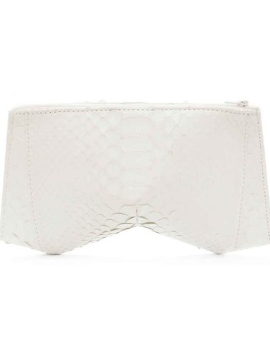 WHITE PYTHON TRILLIANT CLUTCH