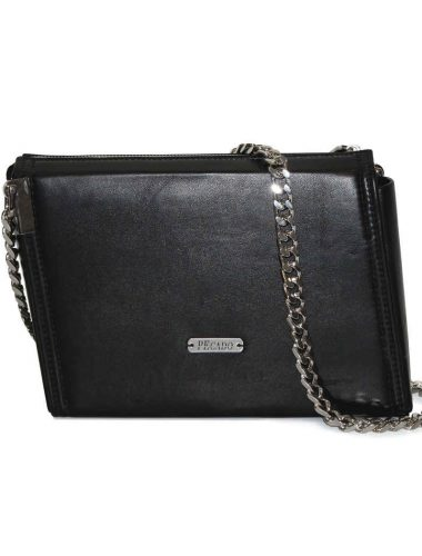 BLACK LEATHER EMERALD CROSSBODY EXPENDED