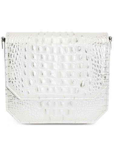 PEARL WHITE CROC RADIANT CLUTCH BAG