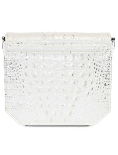Pearl White RADIANT CLUTCH BAG