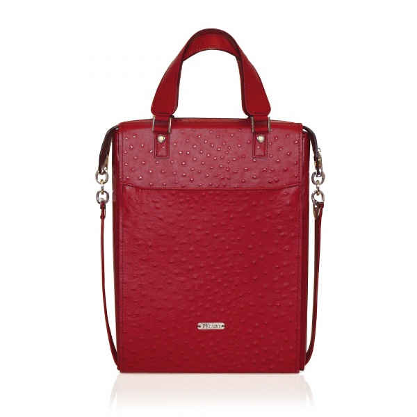 LIPSTICK RED FRONT POCKET TOTE