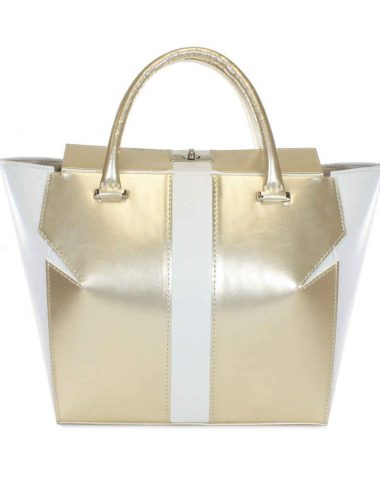 WHITE GOLD MARQUIS TOTE BAG