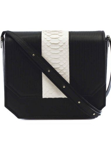 BLACK RADIANT CLUTCH BAG