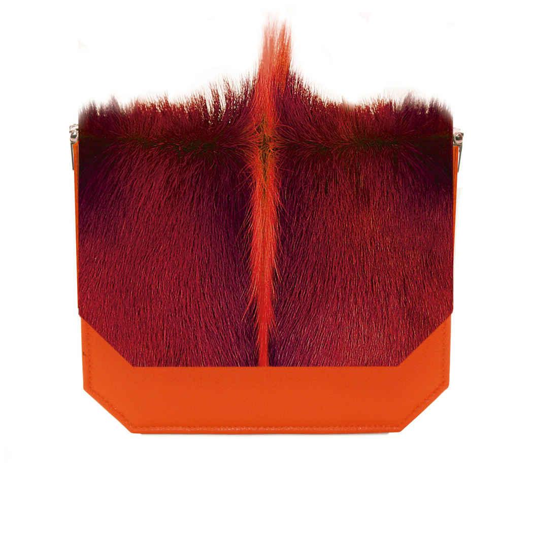 Pumpkin Orange Radiant Clutch Bag