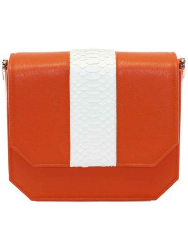 ORANGE RADIANT CLUTCH BAG