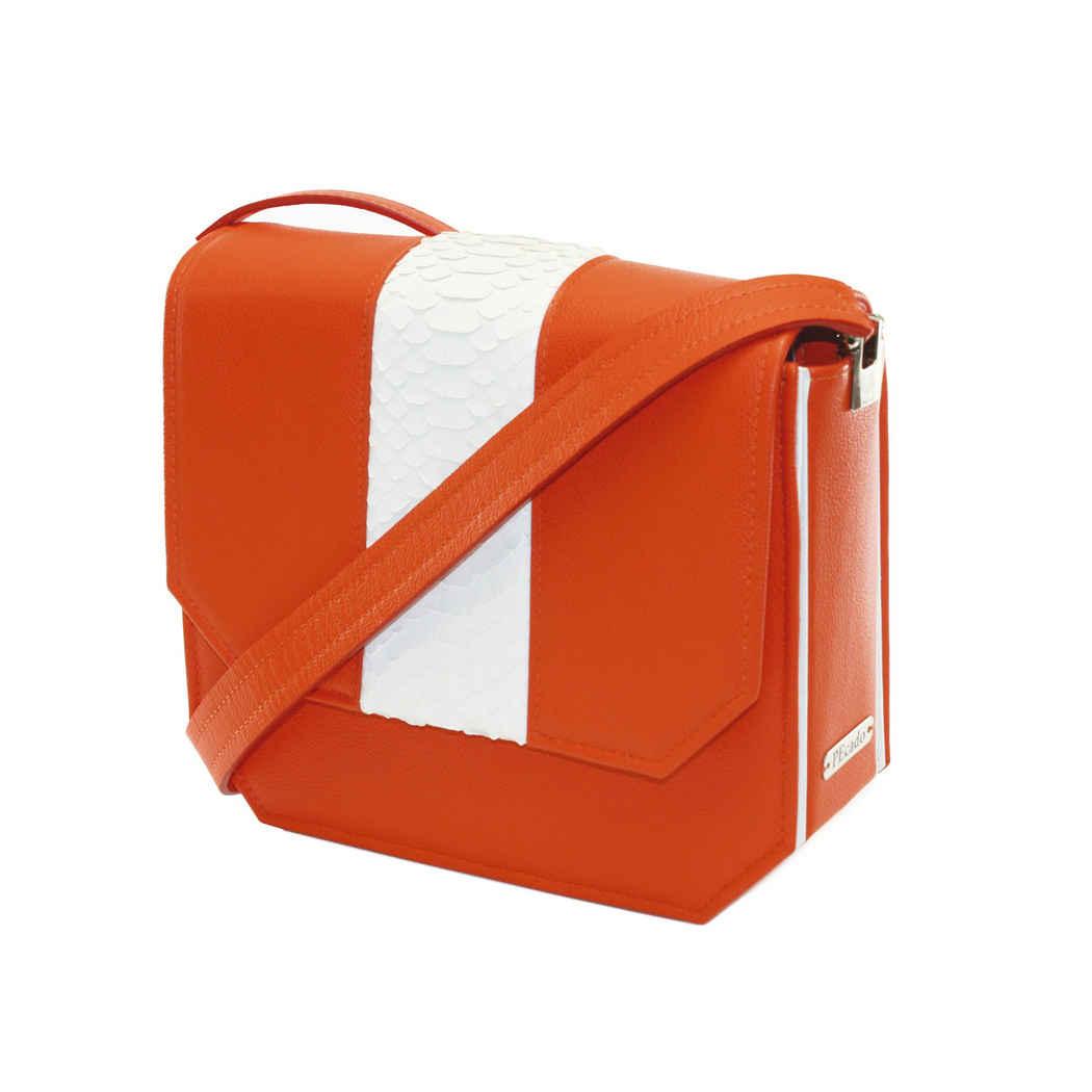 ORANGE RADIANT CLUTCH BAG