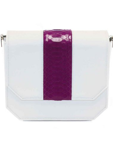 WHITE ORCHID RADIANT CLUTCH BAG