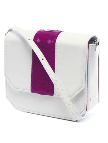 WHITE RADIANT CLUTCH BAG