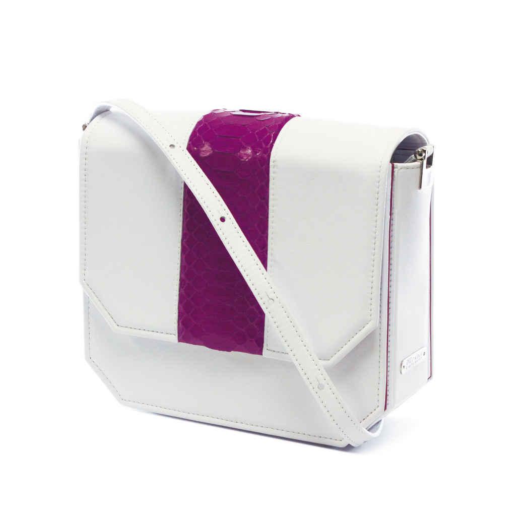 WHITE RADIANT CLUTCH BAG
