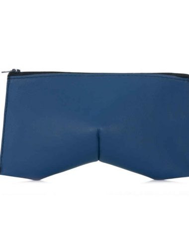 BLUE LEATHER TRILLIANT CLUTCH