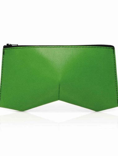GREEN LEATHER TRILLIANT CLUTCH