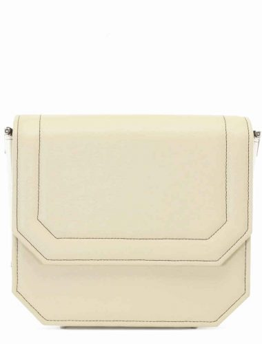 EGGSHELL LEATHER RADIANT CLUTCH BAG