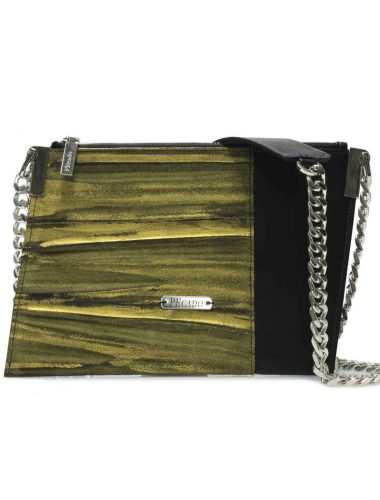 EMBOSSED GOLD EMERALD CROSSBODY