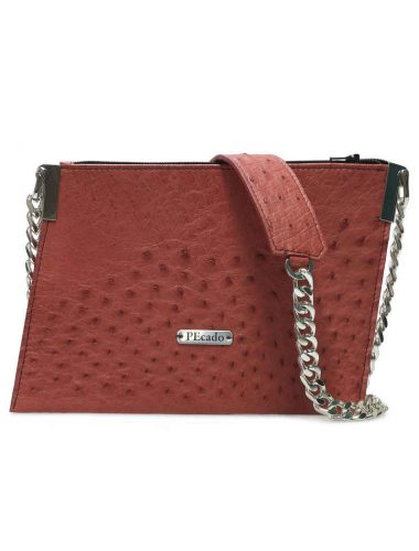 RED OSTRICH EMERALD CROSSBODY