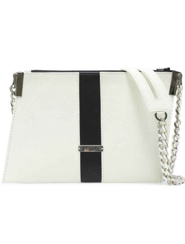 CREAM LEATHER EMERALD CROSSBODY