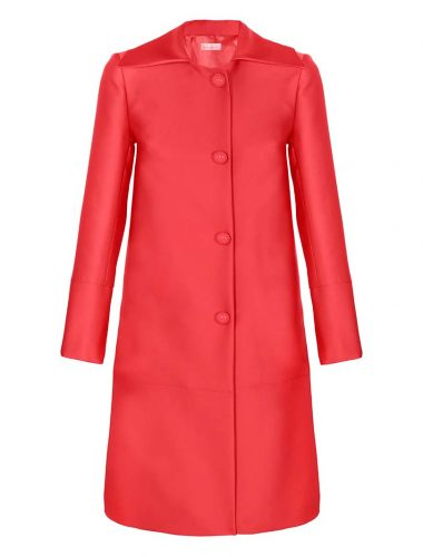 SOLE // CORAL COAT WITH BUTTONS