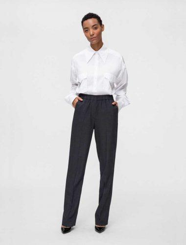 DAFNA MAY // DARK GREY STRAIGHT PANTS