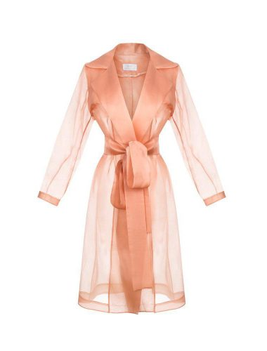 SOLE // SHEER SILK TRENCH COAT