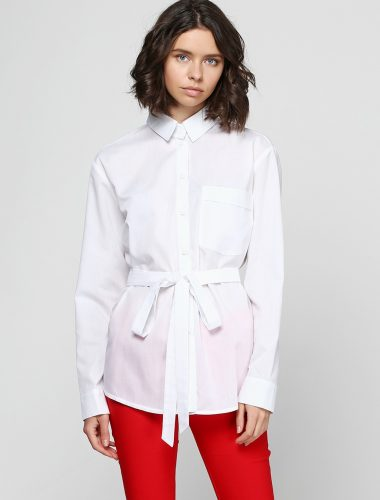 A. YAKOVENKO // WHITE COTTON SHIRT WITH BUTTONS