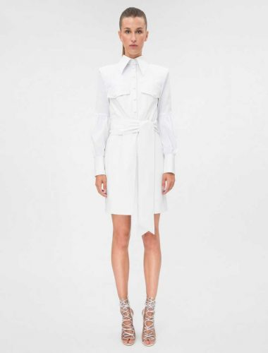 DAFNA MAY // COTTON SHIRT DRESS WITH DISCO SLEEVES