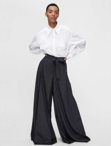 DAFNA MAY // DARK GREY POLAZZO PANTS