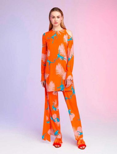 DAFNA MAY // ORANGE MONKEY TROUSERS