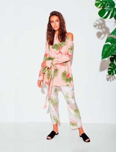 DAFNA MAY // COLD SHOULDER PINK MONKEY TUNIC DRESS