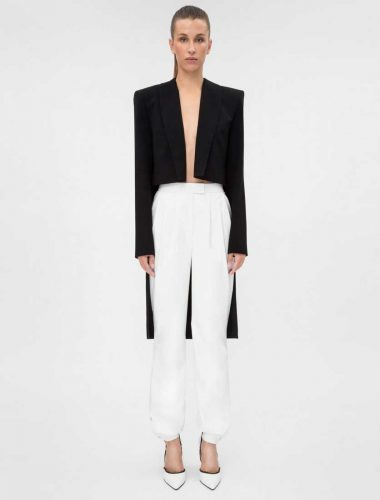 DAFNA MAY // TUXEDO CROP JACKET BLACK