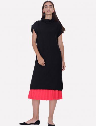 JENADIN // WOMENS TUNIC DRESS DRESS In Black