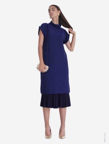 JENADIN // WOMENS TUNIC DRESS DRESS In Blue