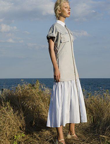 MERVEIS // GREY SAFARI DRESS