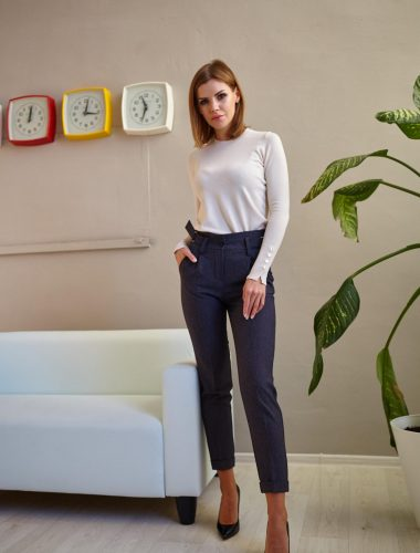 BrykuRY // CLASSIC DOUBLE BELTED TROUSERS