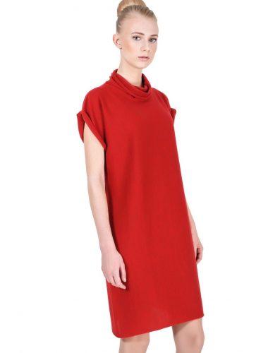 JENADIN // WOMENS TUNIC DRESS DRESS In TERRACOTTA