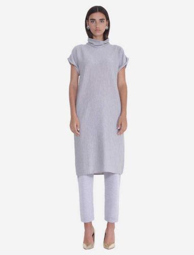 JENADIN // WOMENS TUNIC DRESS DRESS In GREY