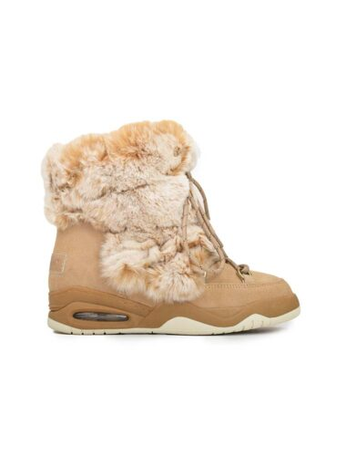 VITTO ROSSI // RABBIT FUR MOON LIKE BOOTS In BEIGE