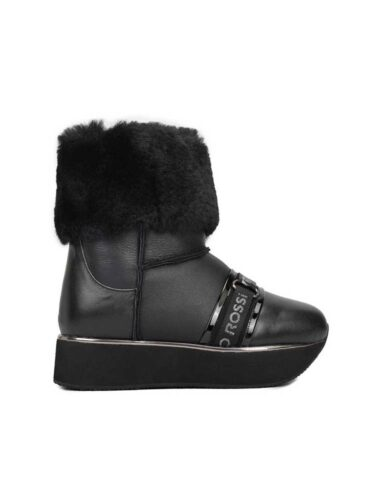 VITTO ROSSI // SIGNATURE VR SHEARLING PLATFORM BOOTS In BLACK