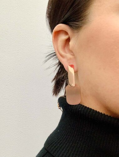 SA // SURGICAL STEEL GLORIA EARRINGS, ROSE GOLD