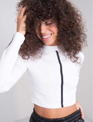 BSL // HIGH NECK DETAILED BUSTIER-SWEATER In WHITE