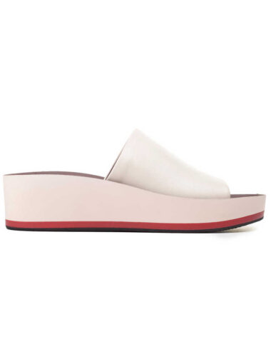 VITTO ROSSI // TWO-TONE LEATHER SLIDES, PINK
