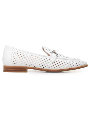 VITTO ROSSI // PERFORATED LEATHER LOAFERS, WHITE